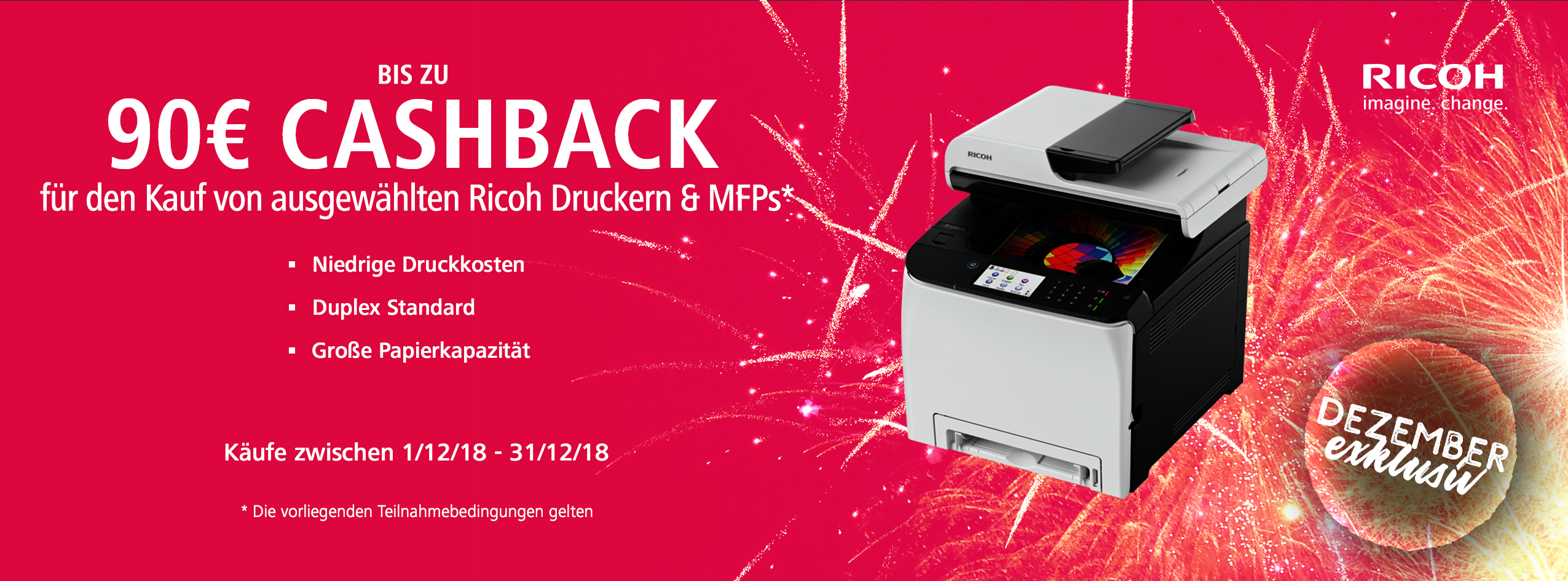 Ricoh End of Year Accelerator Cashback - DE