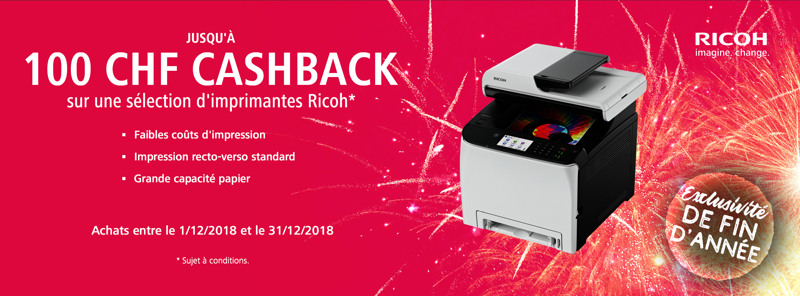Ricoh End of Year Accelerator Cashback - CH