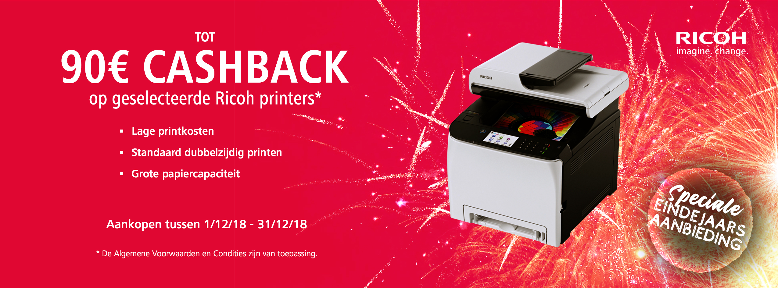 Ricoh End of Year Accelerator Cashback - NL